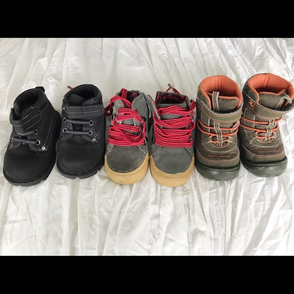 Lot of 3 size 5 Toddler BOY shoes boots f3111fe7c